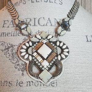 Stella & Dot Kaia Silver Embellished Necklace